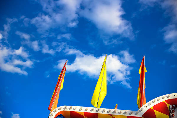 Fair Ground Photograph - Carnival Flags by Colleen Kammerer