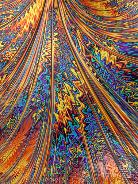 Curve Digital Art - Carnival Flow Abstract by John Edwards
