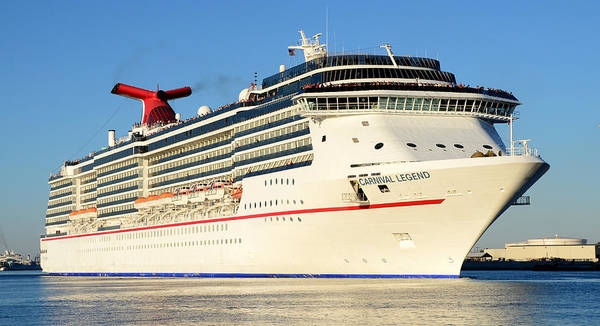 Cruise Ship Photograph - Carnival Legend Leaving Tampa Florida by David Lee Thompson