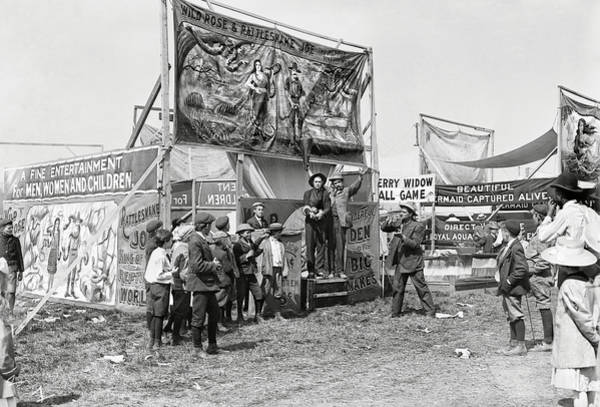 Carnies Photograph - Carnival Midway 1915 by Daniel Hagerman