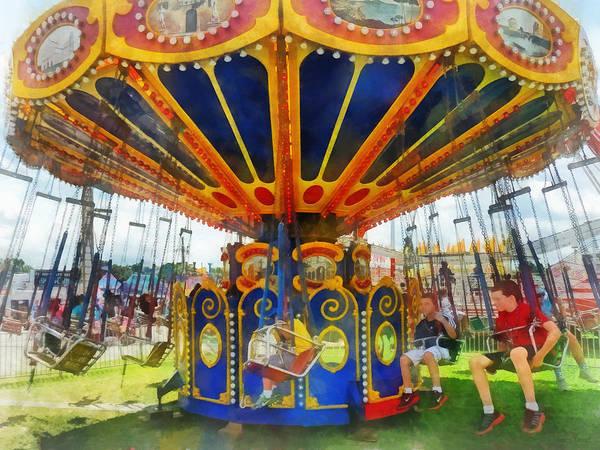 Photograph - Carnival - Super Swing Ride by Susan Savad
