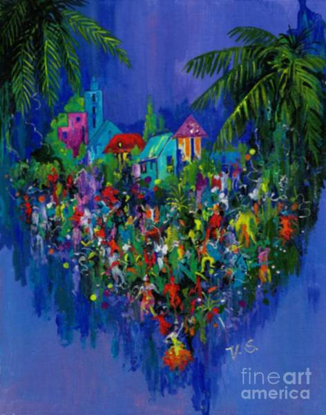 Painting - Carnival by Val Stokes