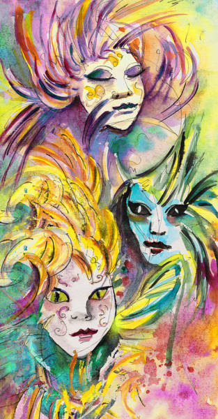 Painting - Carnivale In Taormina 01 by Miki De Goodaboom