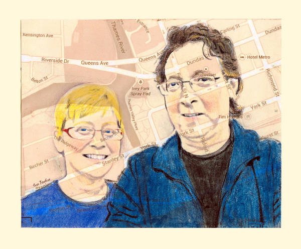 Drawing - Carol And Gord Of London by Ana Tirolese