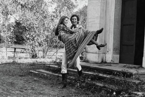Lawn Photograph - Carol Andre In Missoni Carried By A Man by Henry Clarke