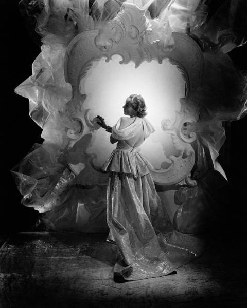 Formal Wear Photograph - Carole Lombard On A Movie Set by George Hoyningen-Huene