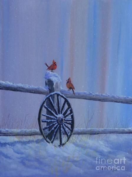 Painting - Carolina Cardinals by Bob Williams