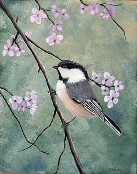 Painting - Carolina Chickadee by Fran Brooks