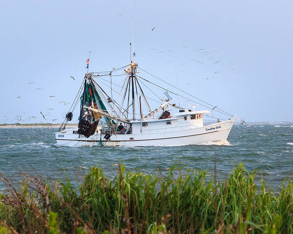 Carolina Girls Shrimp Boat Art Print