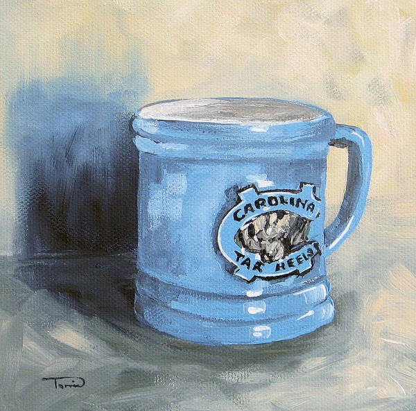 Carolina Tar Heel Coffee Cup Art Print