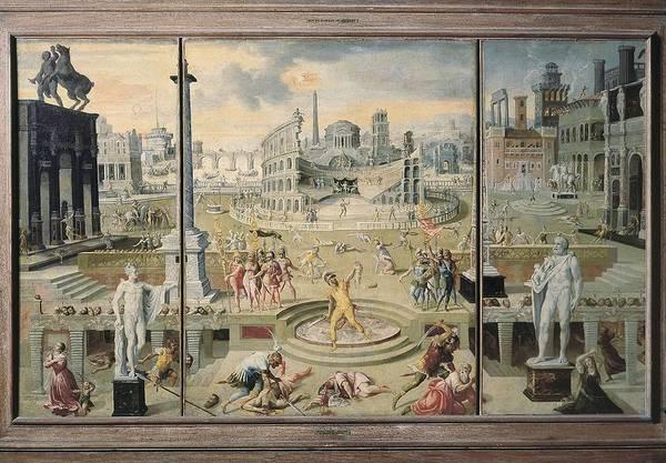1566 Photograph - Caron, Antoine 1521-1599. The Massacre by Everett
