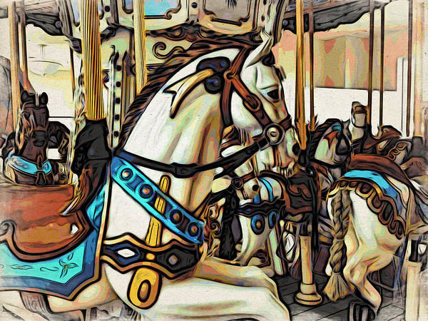Photograph - Carosel Horses by Alice Gipson