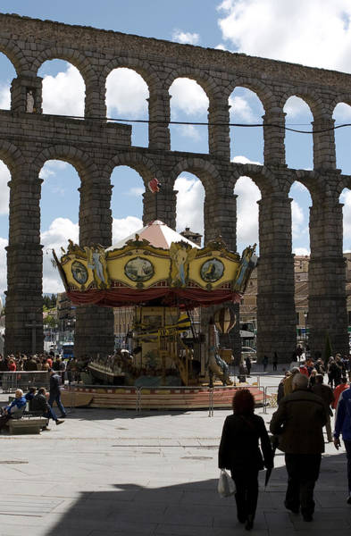 Photograph - Carousel And Aqueduct by Lorraine Devon Wilke
