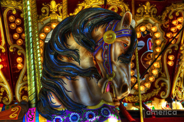 Wall Art - Photograph - Carousel Beauty Waiting For A Rider by Bob Christopher