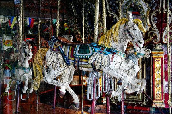 Photograph - Carousel Cracked by Alice Gipson