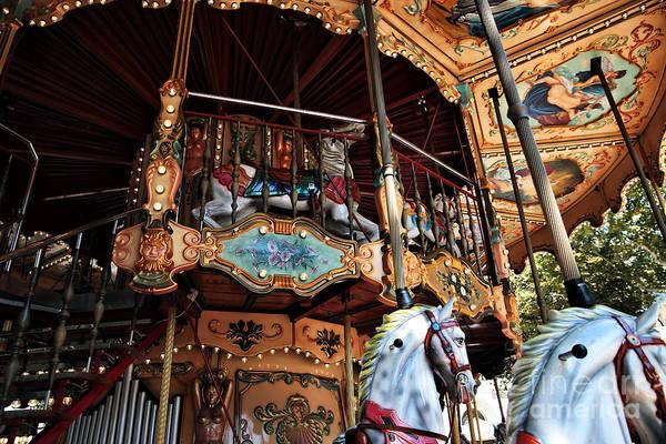Photograph - Carousel Details by John Rizzuto