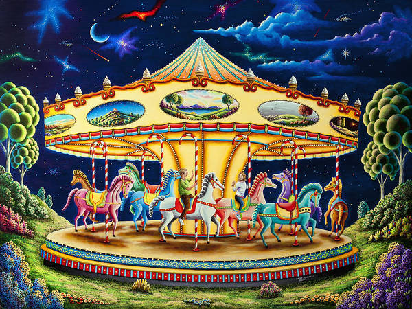 Wall Art - Painting - Carousel Dreams 3 by MGL Meiklejohn Graphics Licensing