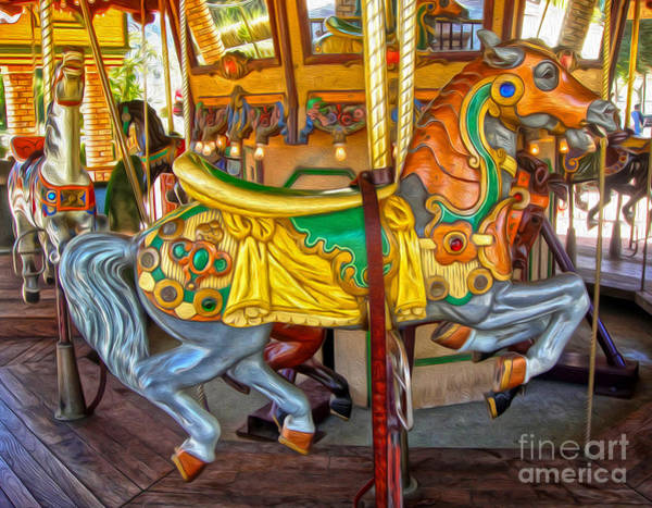 Photograph - Carousel Horse - 03 by Gregory Dyer