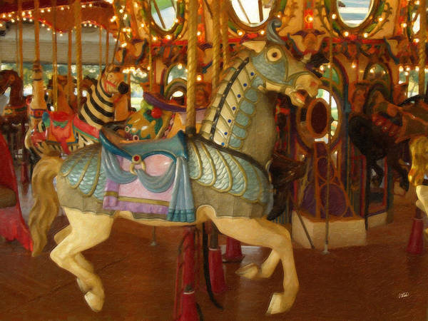 Painting - Carousel Horse 196244 by Dean Wittle