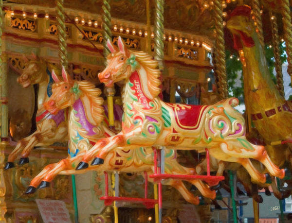 Painting - Carousel Horse Equ164172 by Dean Wittle
