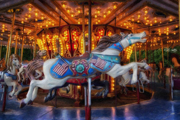 Painting - Carousel Horse Equ226687 by Dean Wittle