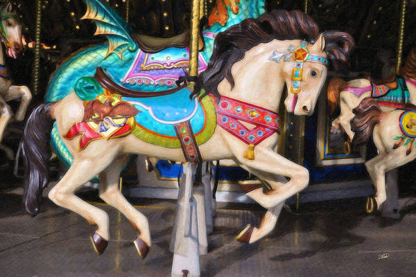 Painting - Carousel Horse Equ465622 by Dean Wittle
