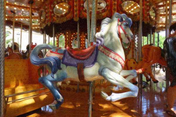 Painting - Carousel Horse Equ494635 by Dean Wittle