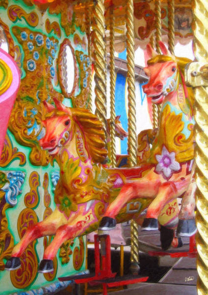 Painting - Carousel Horse Equ57858 by Dean Wittle