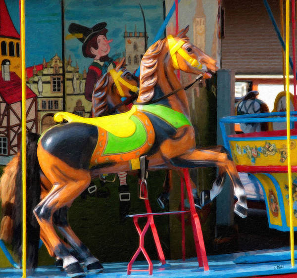 Painting - Carousel Horse Equ6803 by Dean Wittle
