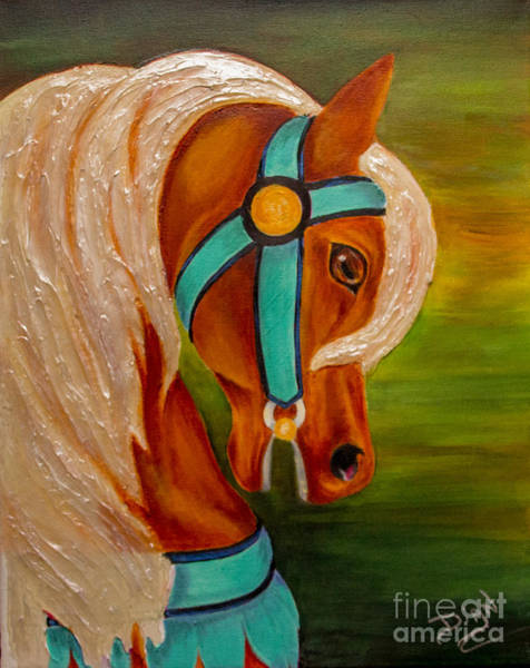 Carousel Mixed Media - Carousel Horse Fantasy by Dian Paura-Chellis