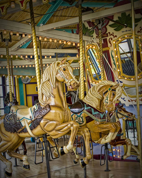 Photograph - Carousel Horse In Fort Edmonton Park by Randall Nyhof