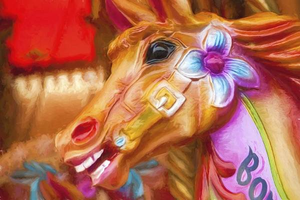 Photograph - Carousel Horse. by Phil Darby