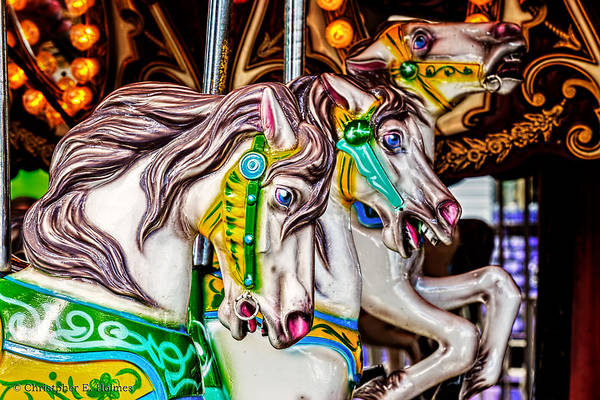 Photograph - Carousel Horses by Christopher Holmes