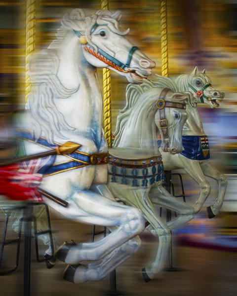 Photograph - Carousel Horses by Randall Nyhof