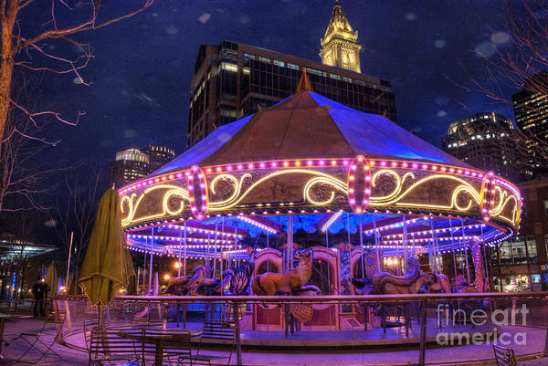 Carousels Photograph - Carousel In Boston by Juli Scalzi