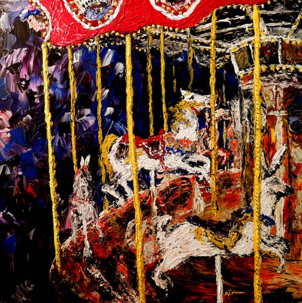 Coolidge Painting - Carousel  Main Attraction  by Mark Moore