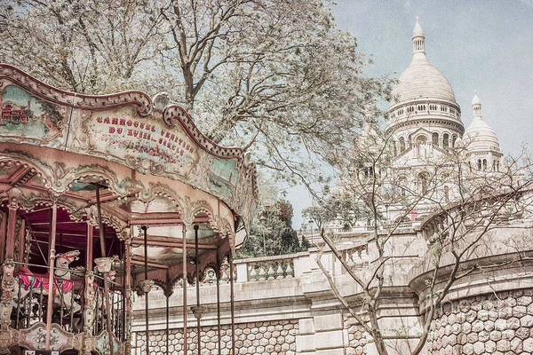 Wall Art - Photograph - Carousel Sacre Coeur by Stacey Granger