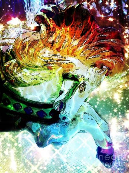 Carousel Digital Art - Carousel Sparkle by Patty Vicknair