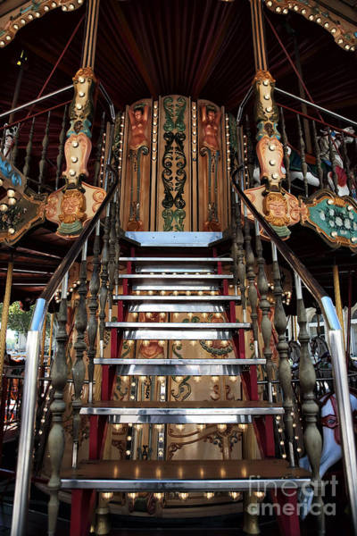 Photograph - Carousel Stairs by John Rizzuto