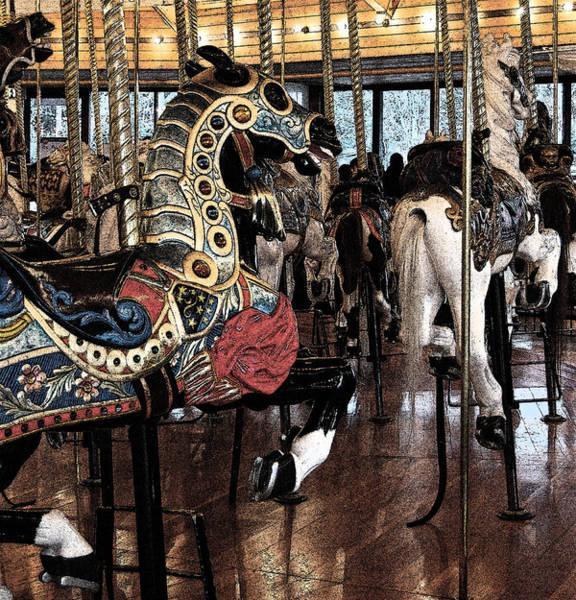 Photograph - Carousel War Horse by Jani Freimann