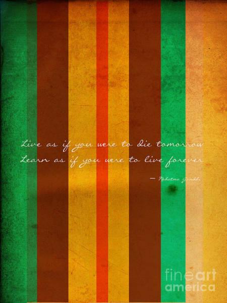 Photograph - Carpe Diem Serie - Mahatma Gandhi by Andrea Anderegg