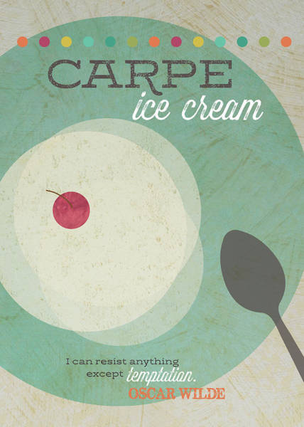 Cream Wall Art - Painting - Carpe Ice Cream by Tammy Apple