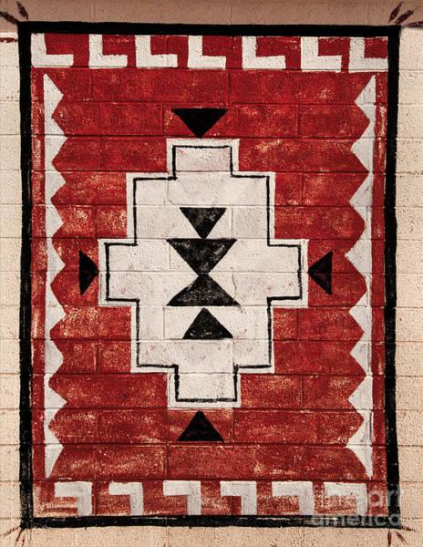 Photograph - American Indian Carpet Design  by Mae Wertz