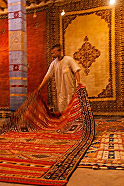 Photograph - Carpet Workshop Near Ouarzazate In Morocco by Ellie Perla