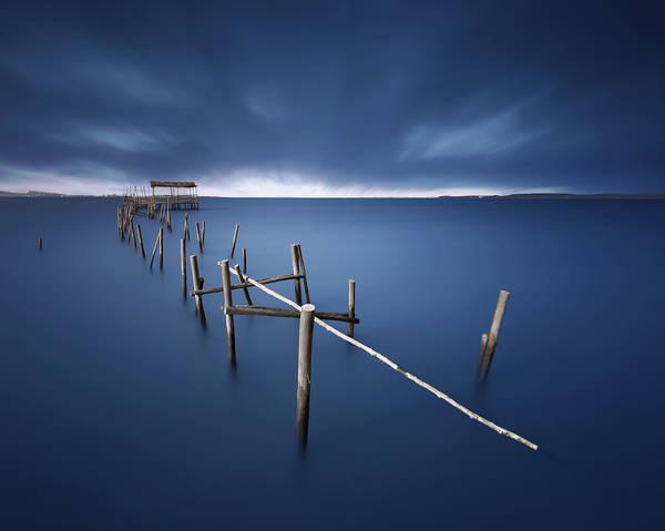 Dock Photograph - Carrasqueira Azul by Juan Pablo De