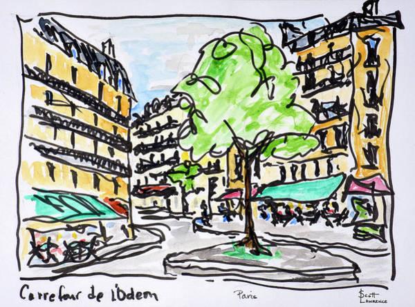 Wall Art - Photograph - Carrefour De L'odeon, Paris, France by Richard Lawrence