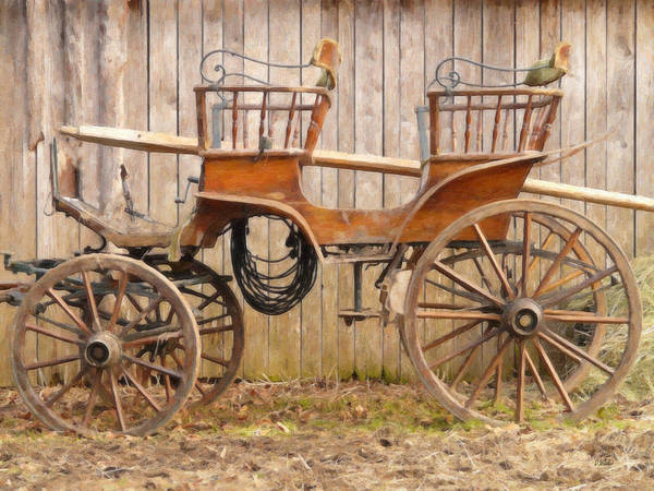 Painting - Carriage Equ49646 by Dean Wittle
