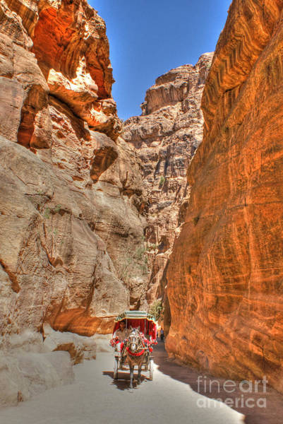 Photograph - Carriage In The Siq by David Birchall