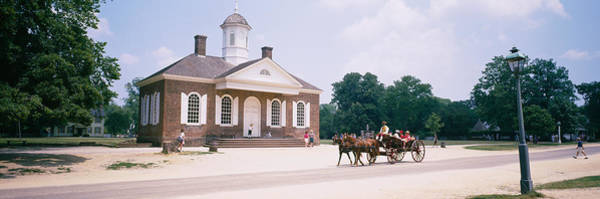 Colonial Williamsburg Photograph - Carriage Moving On A Road, Colonial by Panoramic Images