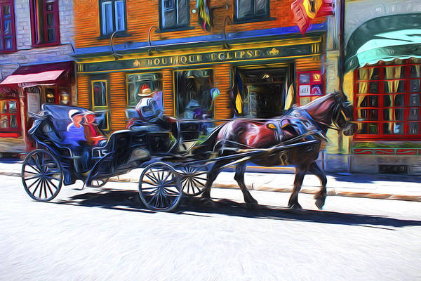 Photograph - Carriage Rides Series 09 by Carlos Diaz